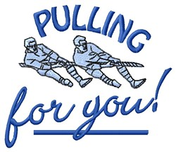 Pulling For You embroidery design