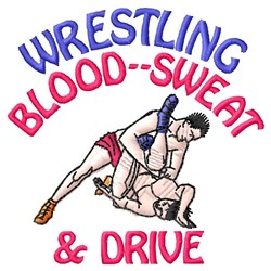 Wrestling Drive embroidery design