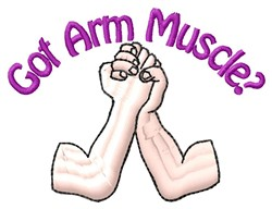 Arm Muscle embroidery design