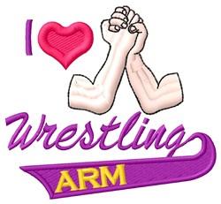 Love Wrestling embroidery design