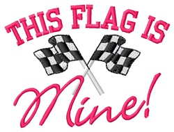 Flag Is Mine embroidery design