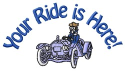 Your Ride embroidery design