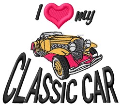 Love Classic Car embroidery design