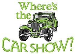 Car Show embroidery design