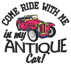 My Antique Car embroidery design