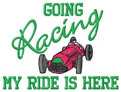 Going Racing embroidery design