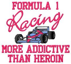 Formula 1 embroidery design