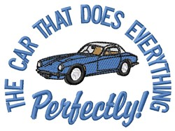 Perfect Car embroidery design