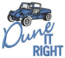 Dune It Right embroidery design
