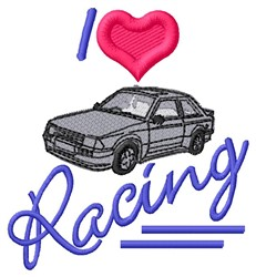 Love Racing embroidery design