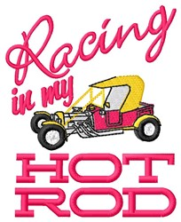 Racing Hot Rod embroidery design