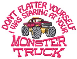 Your Monster Truck embroidery design