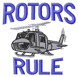 Rotors Rule embroidery design