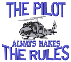 Pilot Rules embroidery design