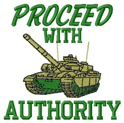 With Authority embroidery design