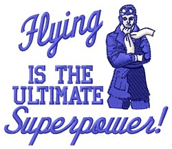 Flying Superpower embroidery design