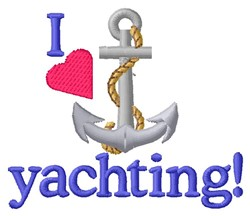 Love Yachting embroidery design