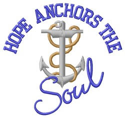 Hope Anchors embroidery design