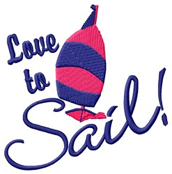 Love To Sail embroidery design