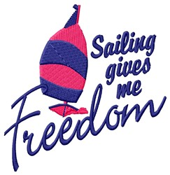Sailing Freedom embroidery design