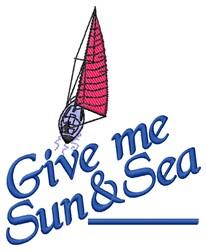 Sun & Sea embroidery design