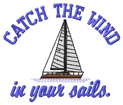 Catch Wind embroidery design