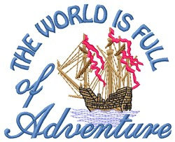 Full Of Adventure embroidery design