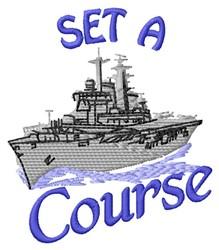 Set A Course embroidery design