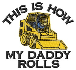 How Daddy Rolls embroidery design