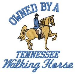 Owned Walking Horse embroidery design