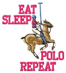 Eat Sleep Polo embroidery design