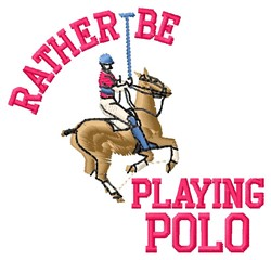Playing Polo embroidery design