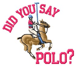 Say Polo embroidery design