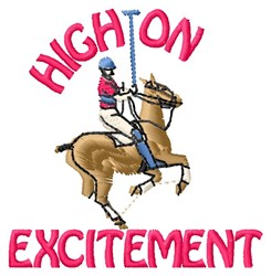 High Excitement embroidery design