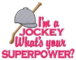 Jockey Superpower embroidery design