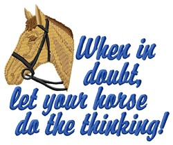 Horse Thinking embroidery design