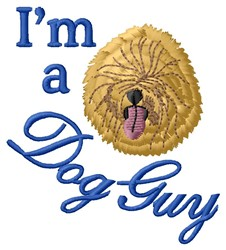A Dog Guy embroidery design