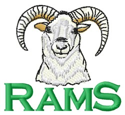 Rams embroidery design