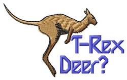 T-Rex Deer embroidery design