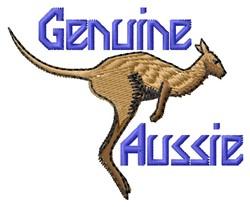 Genuine Aussie embroidery design