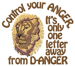 Control Anger embroidery design