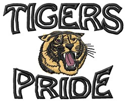 Tigers Pride embroidery design