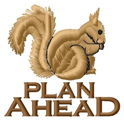 Plan Ahead embroidery design