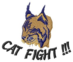 Cat Fight embroidery design