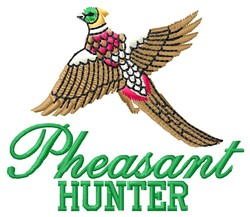 Pheasant Hunter embroidery design