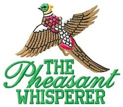 Pheasant Whisperer embroidery design