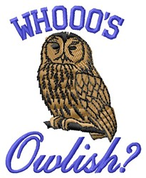 Whooos Owlish? embroidery design