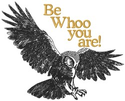 Whoo You Are embroidery design