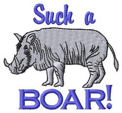 A Boar embroidery design