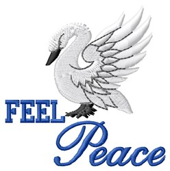 Feel Peace embroidery design